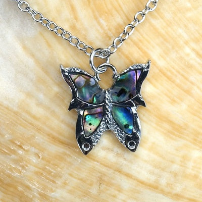 Paua Shell Necklace - Butterfly