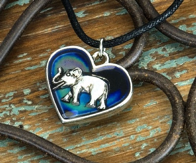 Mood Heart Necklaces - Elephant