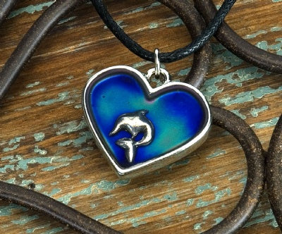 Mood Heart Necklaces - Dolphin