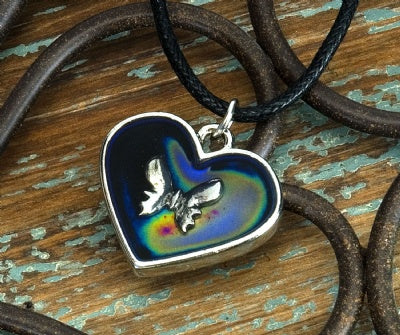 Mood Heart Necklaces - Butterfly
