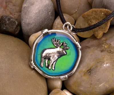 Mood Circle Necklaces - Moose