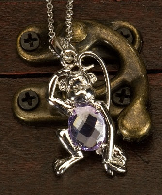 Large Jeweled Necklace - Tailed Monkey