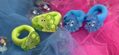 Kids Icon Hair Ties - Sea Turtle, Octopus