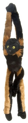Hanging Red Ruffed Lemur 20-inch