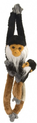 Hanging Douc Langur w/Baby 20-inch