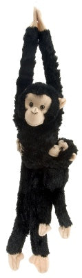 Hanging Chimp w/Baby 20-inch
