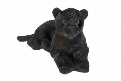 Cuddlekins Laying Black Jaguar (12-inch)