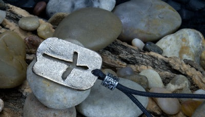 Metal Pendant Necklace - Cross