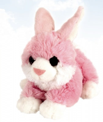 Pink Bunny Rabbit Stuffed Animal with Glitter Eyes