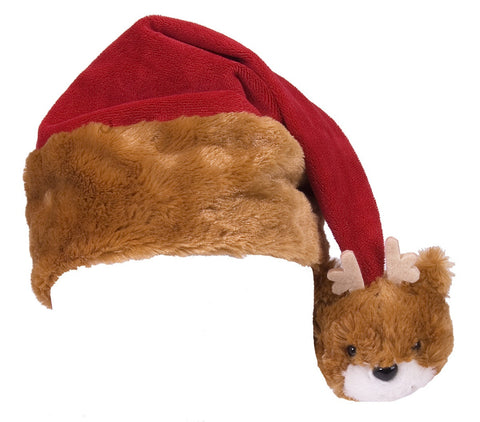 Super Soft Reindeer Santa Hat (Child Size)