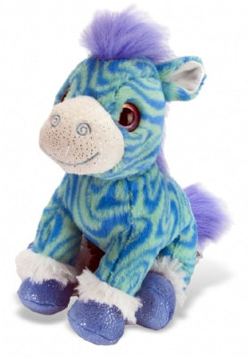 Swirly Blue Zebra Plush (Sweet & Sassy)