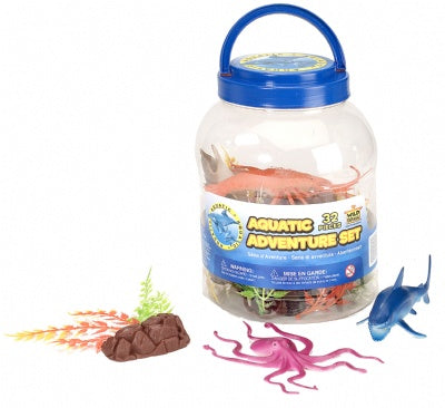 Aquatic Adventure Bucket (32-Piece Ocean Playset)