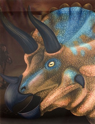 3D lenticular Poster Triceratops