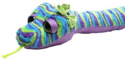 Sweet and Sassy Blue & Green Stripes Snake (54-inch Stuffed Animal