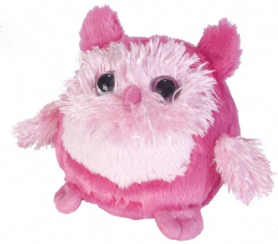 Fuzzballs Pink Owl (6-inch Stuffed Animal)