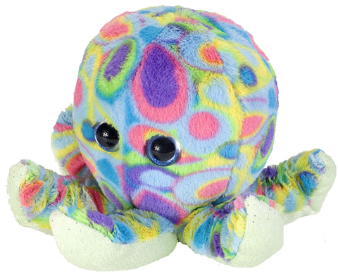 Fuzzballs Rainbow Glitter Octopus (10-inch Stuffed Animal)