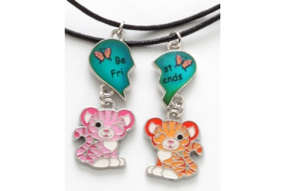 BFF Sweet & Sassy Tiger Mood Necklace Set