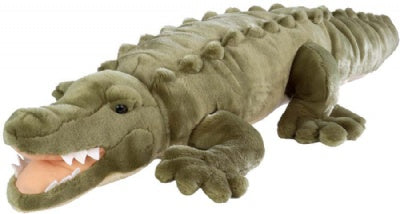 Giant Plush Saltwater Crocodile