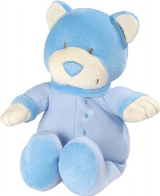 Jr. Jungle: Large Blue Bear with Rattle