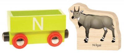 Wooden Alphabet Train : N (Nilgai)