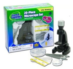 Science Explorers 20-Piece Microscope Set
