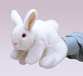 White Bunny Rabbit Puppet