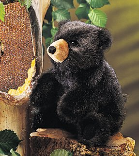 Baby Black Bear Puppet