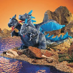 Blue Three Headed Dragon Puppet