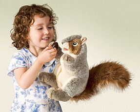 Gray Squirrel Puppet