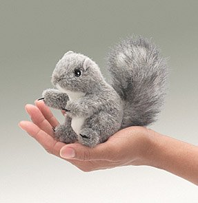 Mini Squirrel Finger Puppet