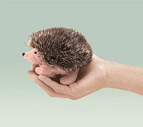 Mini Hedgehog Finger Puppet