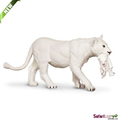 White Lioness with Cub