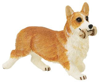 Wild Safari Pembroke Corgi with Rawhide Bone