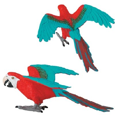 Wild Safari Red and Blue Macaw