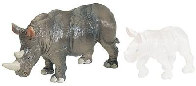 Wild Safari White Rhino Adult