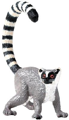 Wild Safari Lemur with Posable Tail