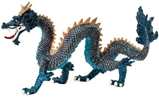 Blue Chinese Dragon
