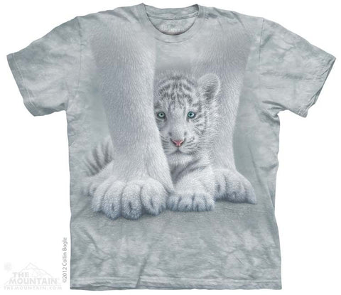 Sheltered White Tiger Cub T-Shirt