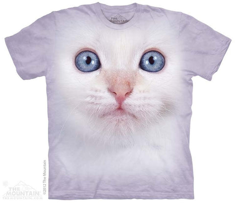 White Kitten Face T-Shirt