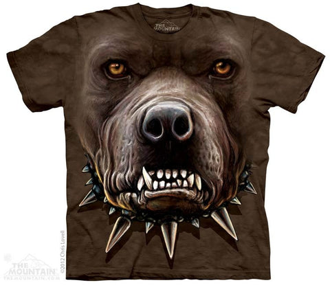 Angry Pitbull Face T-Shirt