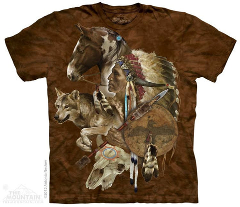 Wolf Spirit Warrior T-Shirt