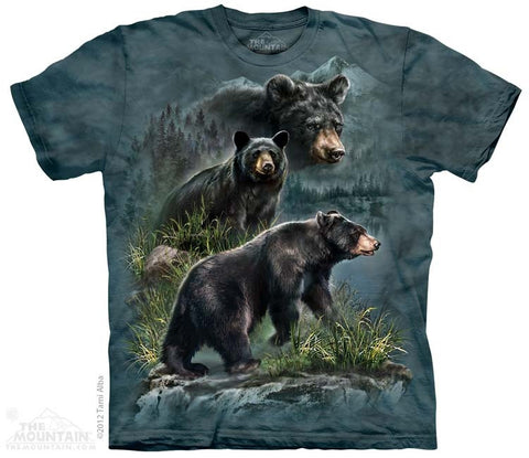Three Black Bears T-Shirt
