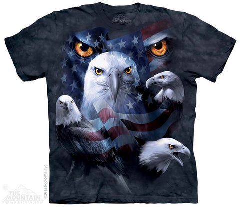Patriotic Moon Eyes Eagle T-Shirt