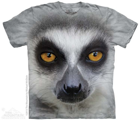 Big Face Ring Tailed Lemur T-Shirt