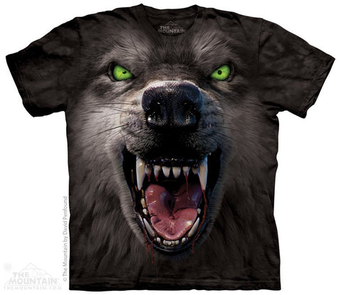 Big Face Attack Wolf T-Shirt