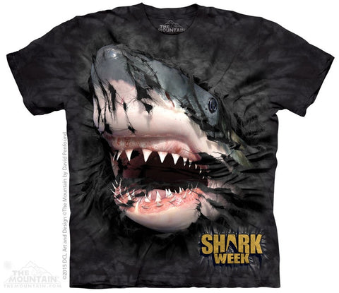 Shark Week Breakthru Black T-Shirt
