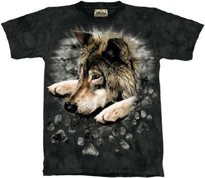 Wolf in Dye Paw T-Shirt