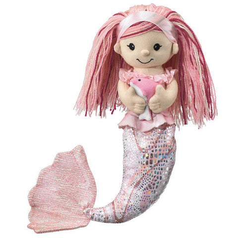 Plush Mermaid with Pet Pink Dolphin