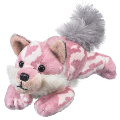Soft Pink Wolf Stuffed Animal (8.5-inch)