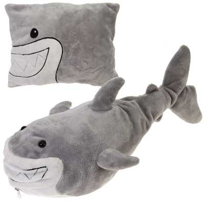 Shark Peek-A-Boo Plush Pillow